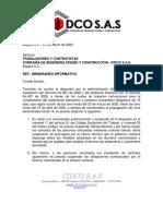 MEMORANDO COVID 19