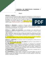 PROYECTO DE LEY MUNICIPAL DE PARTICITACION CIUDADANA Y CONTROL SOCIAL DEL MUNICIPIO DE MONTERO