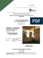 Madera Aserrada Informe final Norma.doc