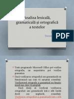 analiza gramaticala