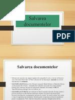 salvarea documentelor