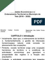 Actividades Económicas e o Ordenamento Territorial No Município