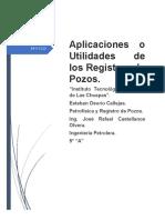 Aplicaciones o Utilidades de los Registros de Pozos