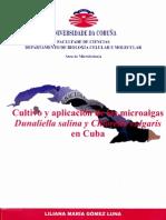 cultivo y aplicaion de microalga dunaliella salina en cuba