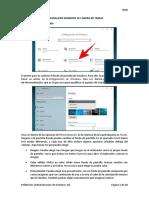 4.- Configuración escritorio, barra de tareas