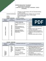 6°DOSIFC DE CONENIDOS   6TO SEC. COMUNICACIÓN Y LENGUAJES
