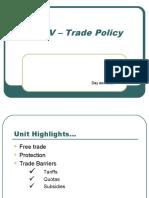 Unit v - Trade Policy