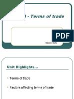 Unit VI-Terms of Trade