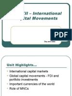 Unit XII-International Capital Movements