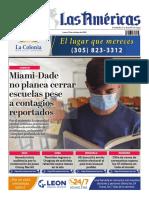 DIARIO LAS AMÉRICAS Portada digital del lunes 12 de octubre de 2020