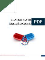 classification des medicaments