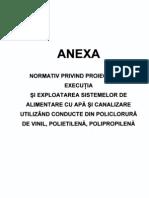 GP 043 - ANEXE - Normativ Privind Proiectarea, Executia si Exploatarea Sistemelor de Alimentare cu Apa