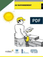 EXPOSITION AU rayonnement solaire