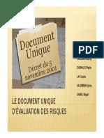 Le document unique d'evaluation des risques
