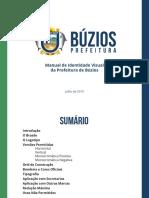 MANUAL DE MARCA PREFEITURA DE BÚZIOS 2019