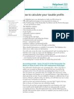 Calculating profits - for HMRC