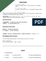 Commands SQL, Python (BASICS)