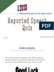 Reported Speech Quiz