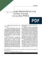 Blumenthal - 2002 - Aprendendo Matemática nos Ciclos Iniciais à Luz dos PCN's