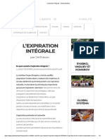 L'expiration intégrale - Global Systema