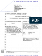LINCOLN v DAYLIGHT CHEMICAL, et al. - 18 - NOTICE OF MOTION AND MOTION to Strike Plaintiff's First Claim for Relief - cacd-031011525040.18.0