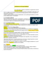 TEMA 10 Organización Social y Vida Cotidiana en la Europa Medieval