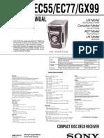 sony hcd ec55 ec77 gx99 service manual download