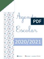 Agenda escolar 2020 2021