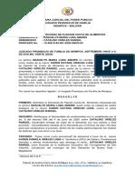 AUTO ADMISORIO DEMANDA DE ALIMENTOS - GRACELYS LUNA