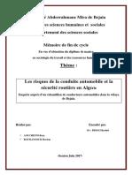 Les risques de la conduite automobile et la sécurité routière en Algérie
