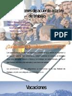 Prestaciones de acuerdo a la ley de trabajo