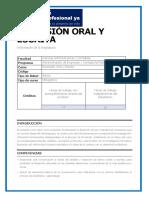 Microcurriculo Expresión oral y escrita