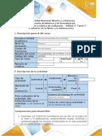 Guía de actividades y rúbrica de evaluación. Tarea 2 - Trastornos de la niñez y la adolescencia.docx