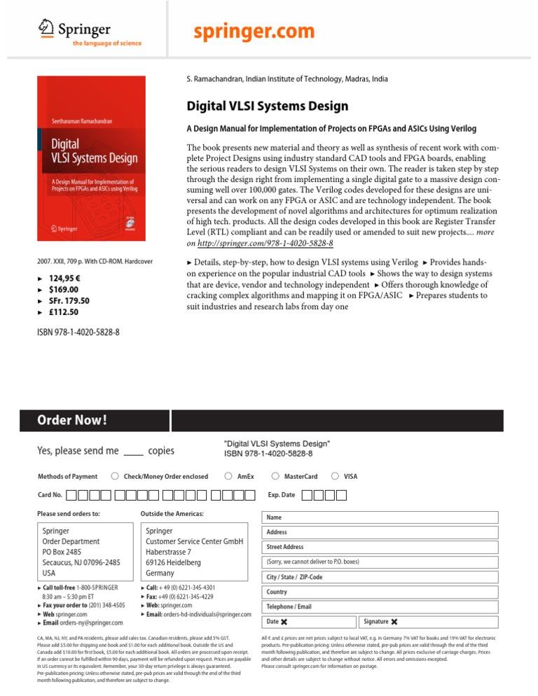productFlyer_978-1-4020-5828-8 | Field Programmable Gate