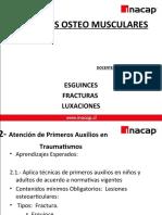 clase 3PRIMEROS AUXILIOS LESIONES   OSTEO-MUSCULAR.ppt