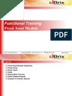 Fixed Asset Module Training