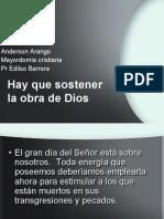 CP 7,  HAY QUE SOSTENER LA OBRA DE DIOS.ppt