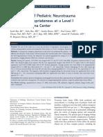 Assessment of Pediatric Neurotrauma