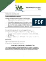 Formulario de aplicación al programa de tesis y pasantías 2011