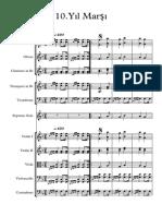 10.yıl marşı - score and parts