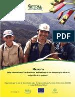 Memoria Taller internacional Las funciones ambientales de las bosques y su rol en la reducción de la pobreza