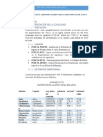 PLAN DE DESARROLLO AGROPECUARIO DE LA PROVINCIA DE ANTA