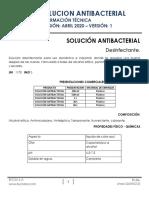 SOLUCION ANTIBACTERIAL FICHA TECNICA