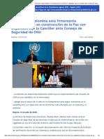 Gobierno de Colombia está firmemente comprometido en construcción de la Paz con Legalidad, dijo la Canciller ante Consejo de Seguridad de ONU.pdf