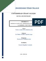 INFORME DE TEORIAS CLASICAS DE LA ADMINISTRACION
