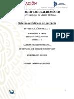 INVESTIGACION UNIDAD 1. SISTEMAS ELECTRICOS DE POTENCIA.