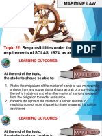 MAR LAW Responsibilities under SOLAS Convention