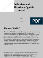 Definition and classification of gothic novel