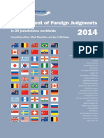 Canada - Enforcement of Foreign Judgments 2014