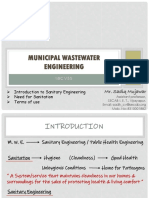 Introduction to Municipal wastewater engineering